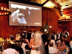 Wedding Projector and Screen